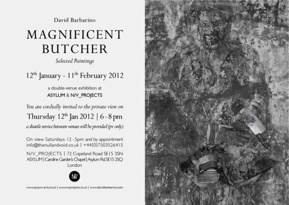 Magnificent Butcher opening 12th Jan 2012